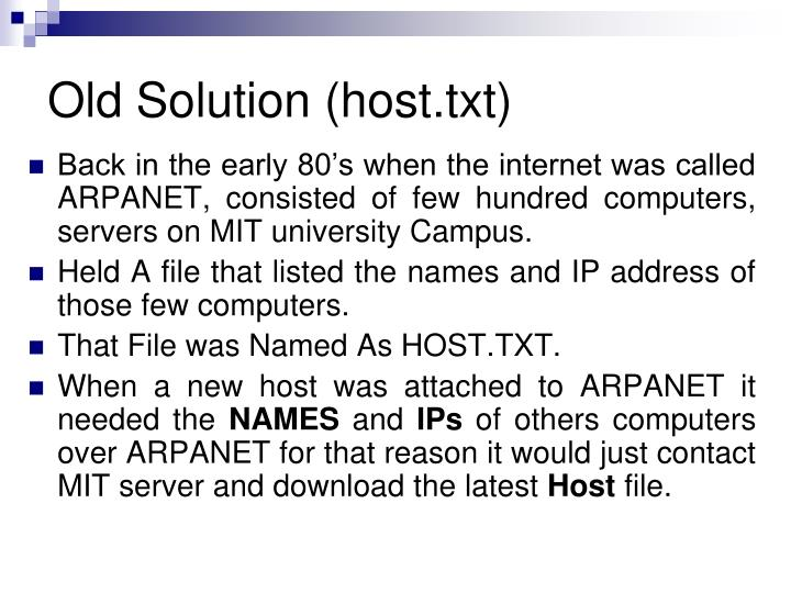 Old Solution (host.txt)