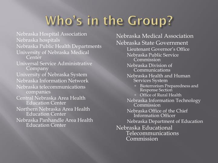 Who's in the Group?
