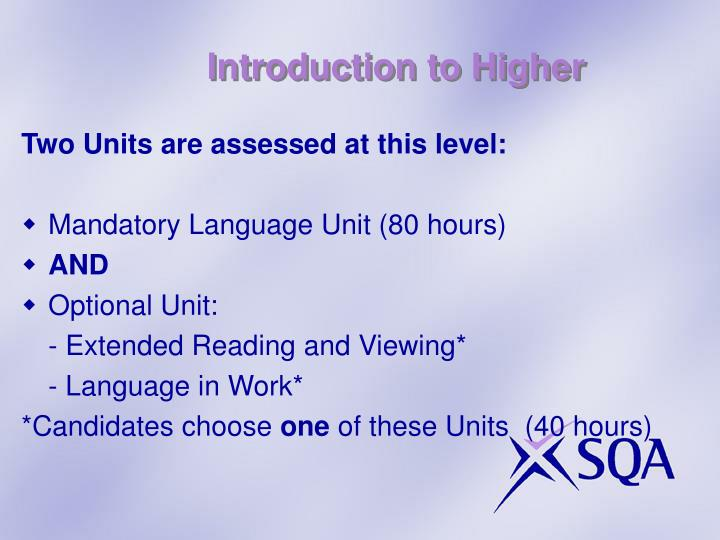 Introduction to Higher