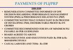 payments of pli prp1