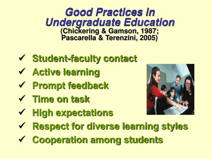 Good Practices in