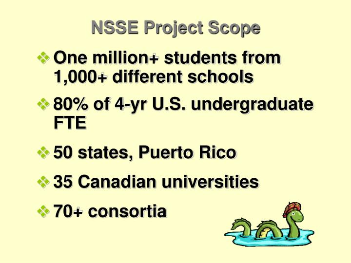 NSSE Project Scope