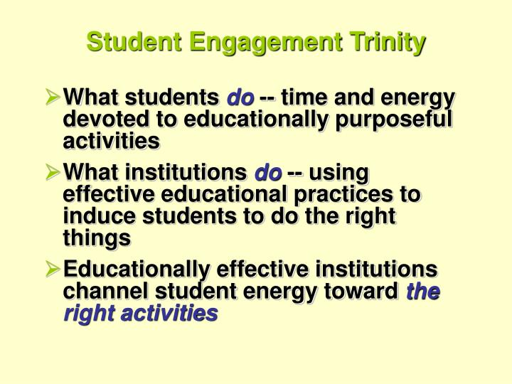 Student Engagement Trinity