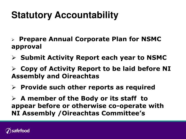 Statutory Accountability