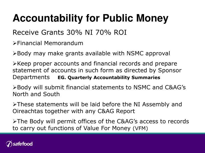 Accountability for Public Money