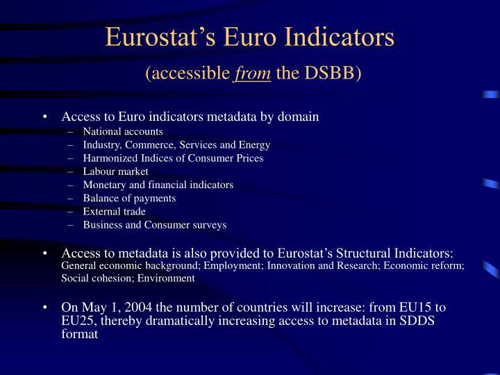 Eurostat's Euro Indicators