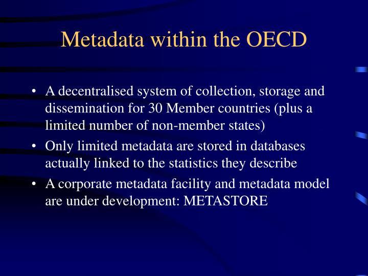 Metadata within the OECD