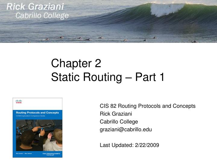 chapter 2 static routing part 1 n.