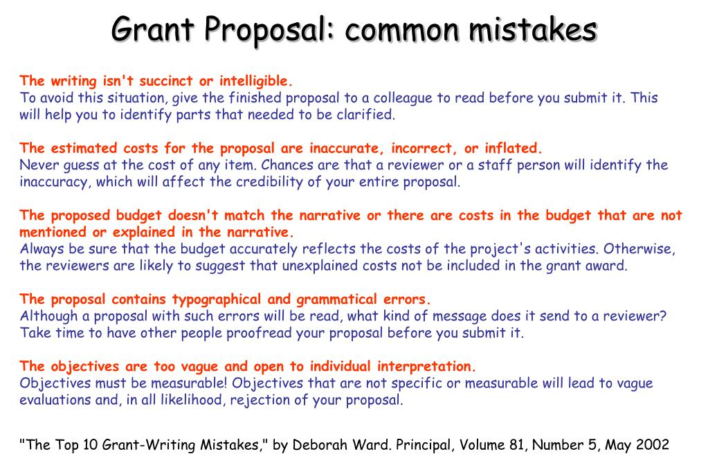 PPT - Science Grant/Proposal: Development and Writing PowerPoint