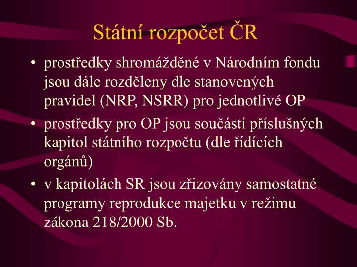 Státní rozpočet ČR