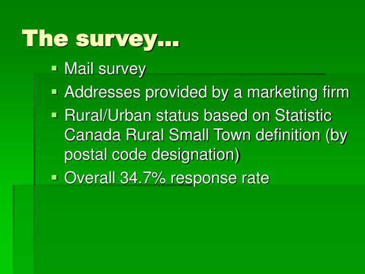The survey…