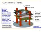 quick lesson 2 nsrs