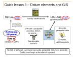 quick lesson 3 datum elements and gis