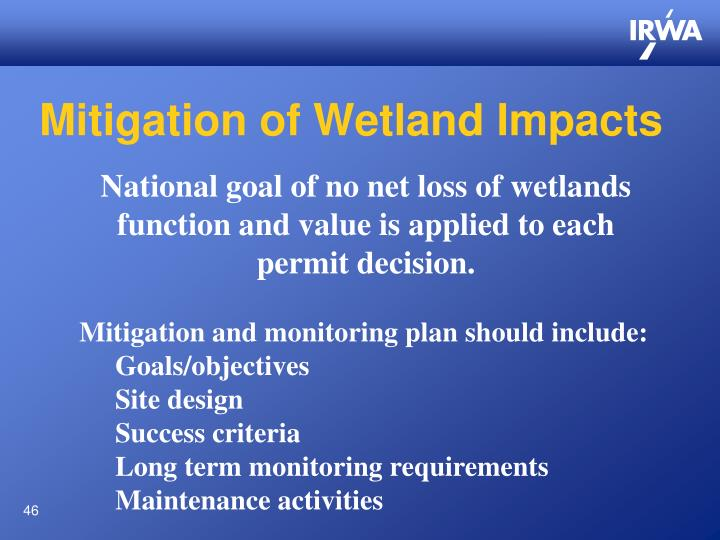Mitigation of Wetland Impacts