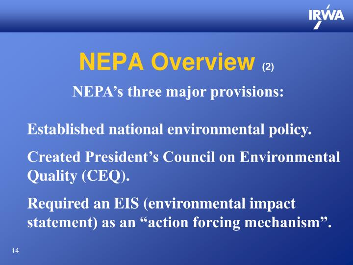 NEPA Overview