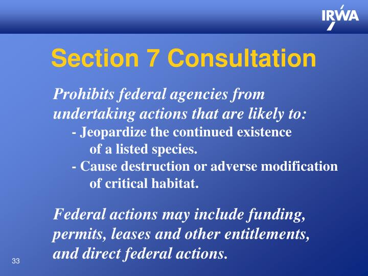 Section 7 Consultation