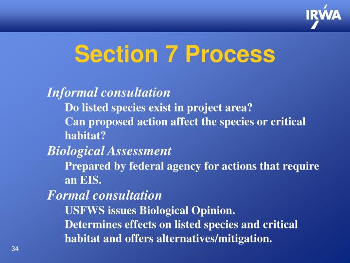 Section 7 Process
