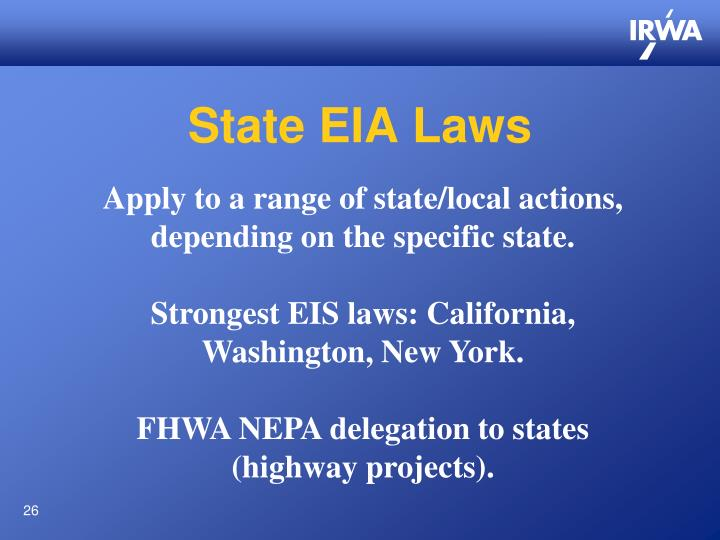 State EIA Laws