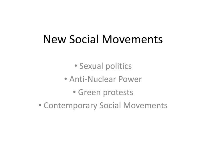 New Social Movements