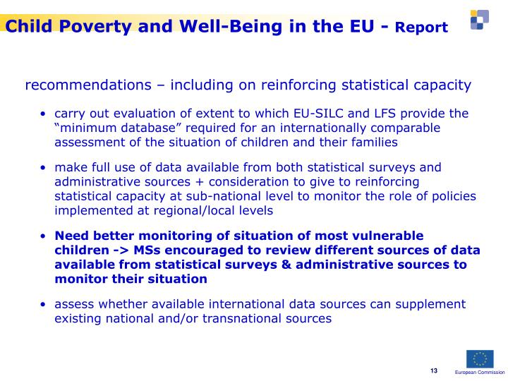 Child Poverty and Well-Being in the EU -