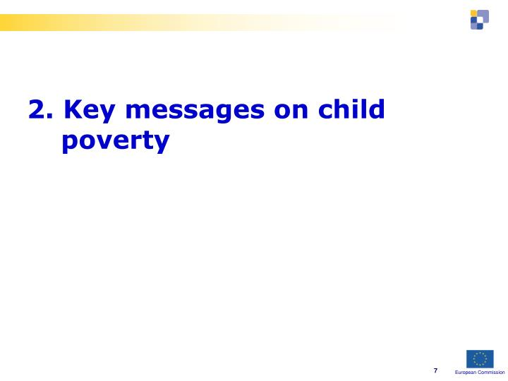 2. Key messages on child poverty