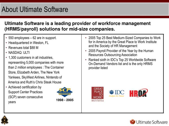 About ultimate software