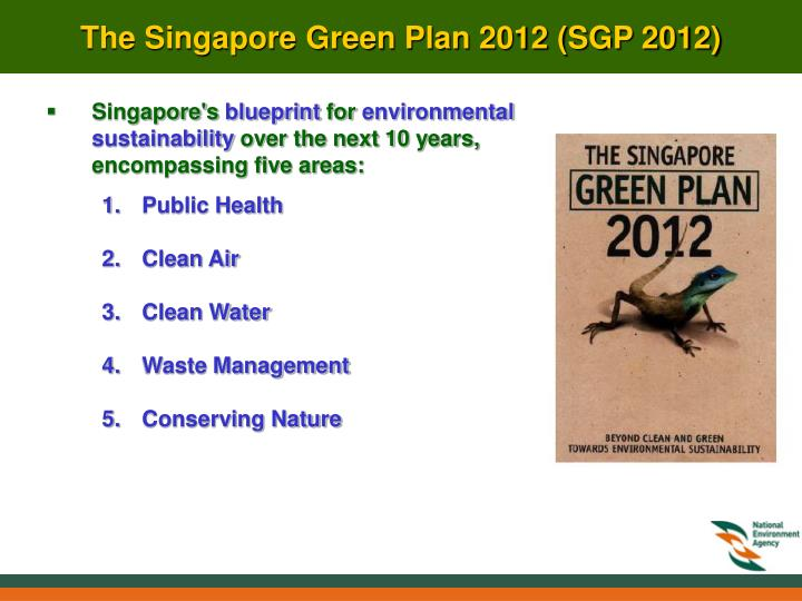 Ppt review of national level activities singapore powerpoint singapores blueprint for environmental sustainability over the next 10 years encompassing five areas malvernweather Gallery