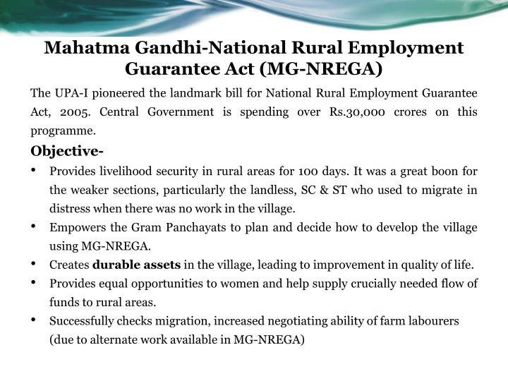 the mahatma gandhi national rural employment guarantee act Amount of expenditure incurred on wages, material and skill and administrative work under mahatma gandhi national rural employment guarantee act (mgnrega) in maharashtra (2014-2015 to 2017-2018-upto 12032018.