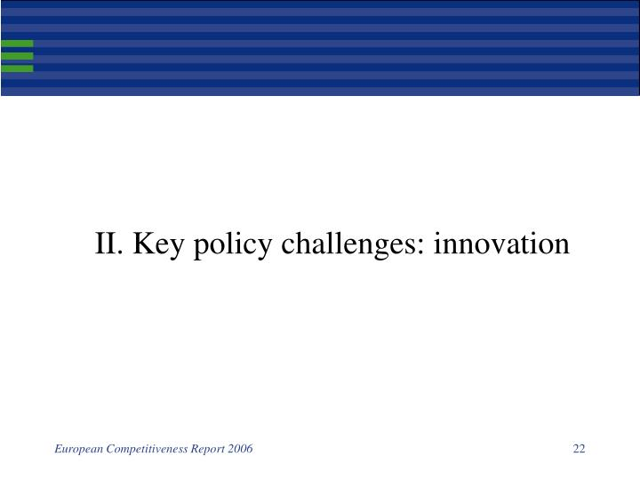 II. Key policy challenges: innovation