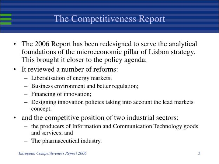 The competitiveness report1