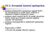 c l 3 evropsk zemn spolupr ce