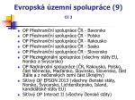 evropsk zemn spolupr ce 9 c l 3