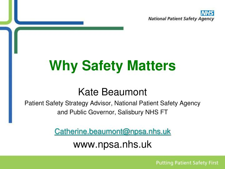why safety matters n.