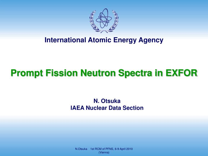 prompt fission neutron spectra in exfor n.