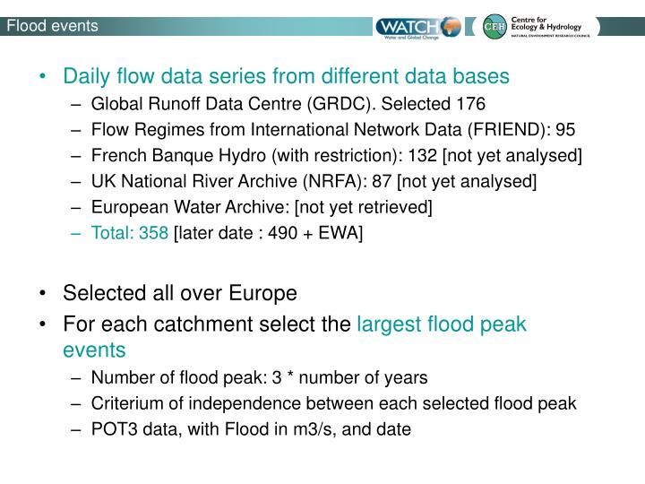 Flood events