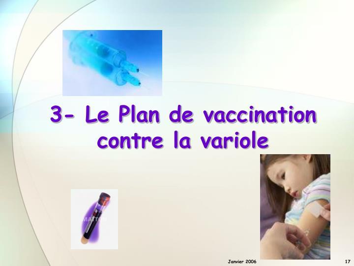 3- Le Plan de vaccination contre la variole