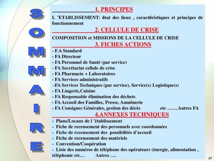 1. PRINCIPES