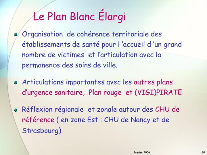 Le Plan Blanc Élargi