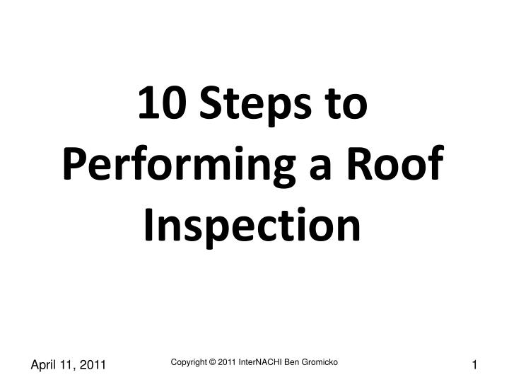 10 steps to performing a roof inspection n.