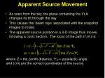 apparent source movement