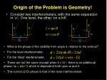 origin of the problem is geometry