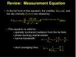 review measurement equation1