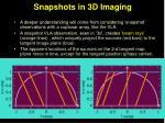 snapshots in 3d imaging