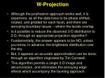w projection