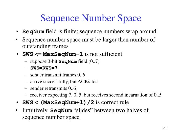 Sequence Number Space