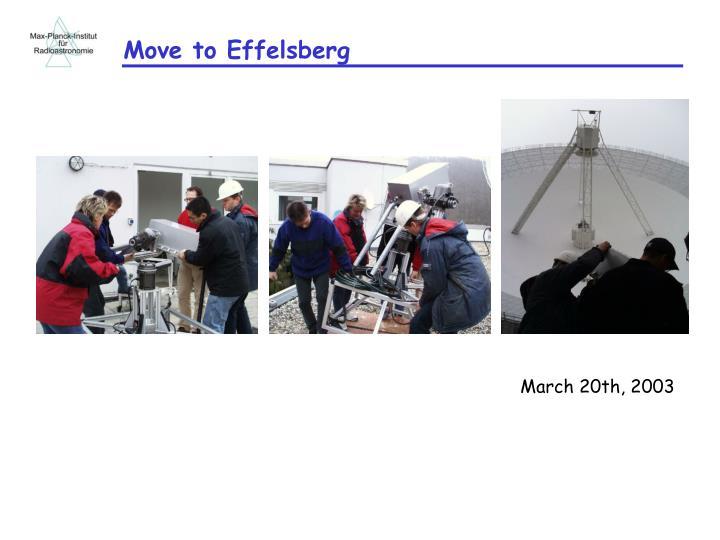 Move to Effelsberg