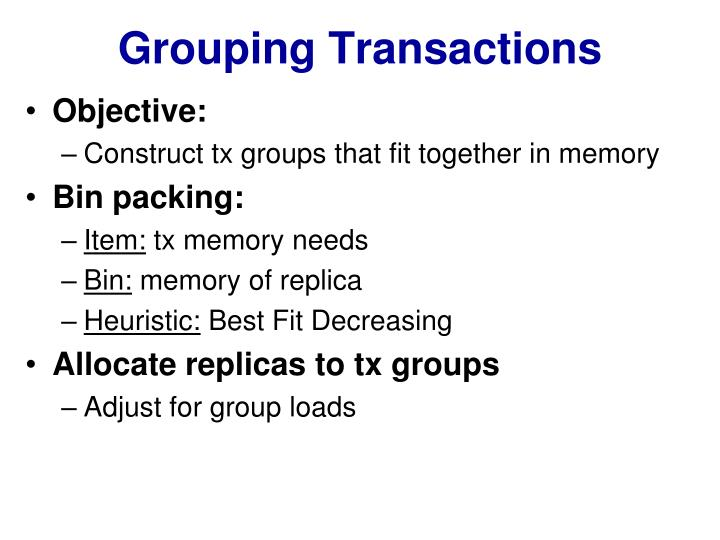 Grouping Transactions