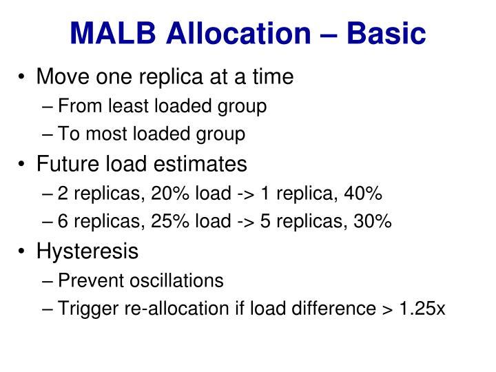 MALB Allocation – Basic