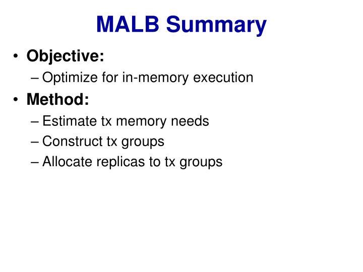 MALB Summary