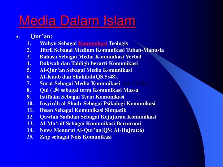 Media Dalam Islam